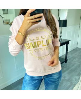 SWEAT/PULL SCRIPTURE 8400 PINK