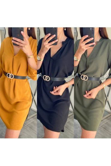PACK 3 DRESSES TUNIC + BELT 9415