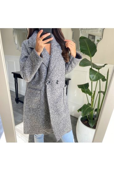 COATS, DOUBLE BUTTONS 9732 GREY