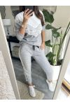 TOGETHER SWEATER LACE + PANTS 9207 GREY