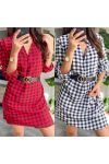 PACK OF 2 DRESSES TUNICS SMALL TILES + BELT 9415