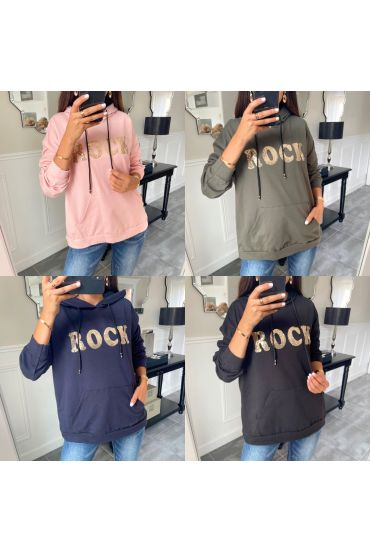 PACK 5 SWEATSHIRTS/PULLOVER ROCK STRASS 9628