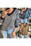 PACK 4 SWEATERS EFFECT HOUNDSTOOTH 9717