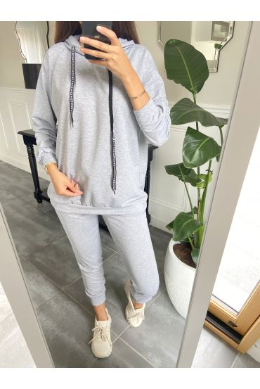 SET SWEATER + TROUSERS WING ANGEL 8976 GRAY