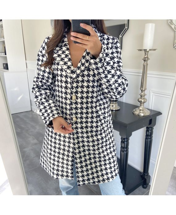 COAT HOUNDSTOOTH 9743I2