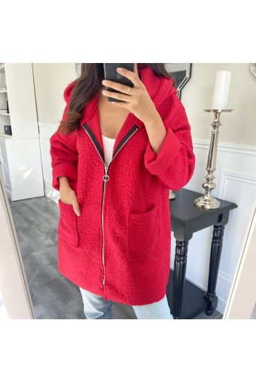 COAT ZIPS 9744 RED