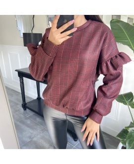 HOT SWEATER SLEEVE RUSTLE 9734 BORDEAUX