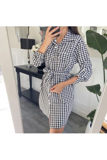 DRESS TUNIC HOUNDSTOOTH 9046