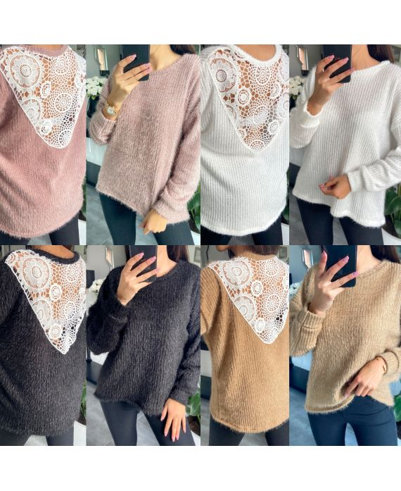 PACK 4 SWEATERS BACK LACE 9779