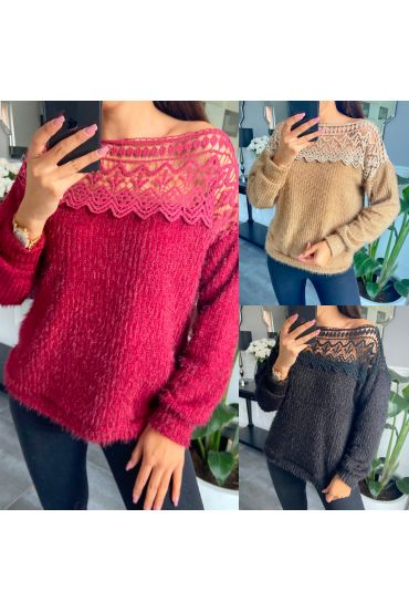 PACK 4 SWEATERS COLLAR LACE BOAT 9780