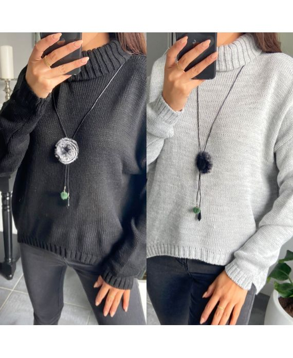 PACK 2 SWEATERS COL ROULE WITH PADDED 8061