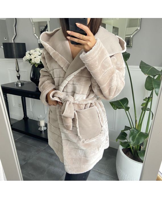 COAT FUR 9789 BEIGE