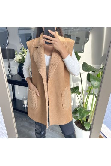 COAT WITHOUT SLEEVES MOUMOUTE 9819 BEIGE