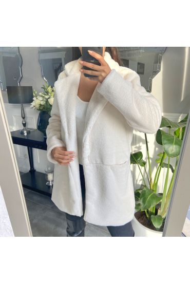COAT FUR 6912 WHITE