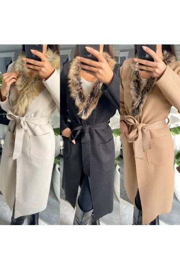 PACK 3 JACKETS LONG FUR COLLAR 6273