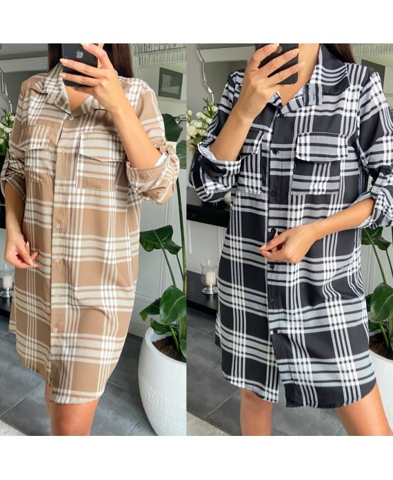 PACK 2 DRESSES SHIRTS PLAID 9762
