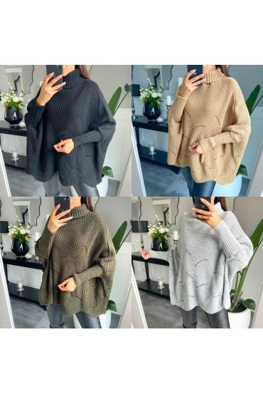 PACK 4 SWEATERS OVERSIZE COLLAR ROLL 1066