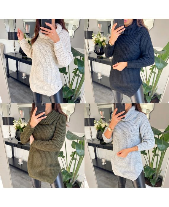 PACK 4 SWEATERS DRESS COL ROULE 1982