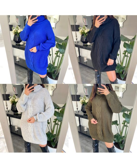 PACK 4 SWEATERS LONG COL ROULE 8086