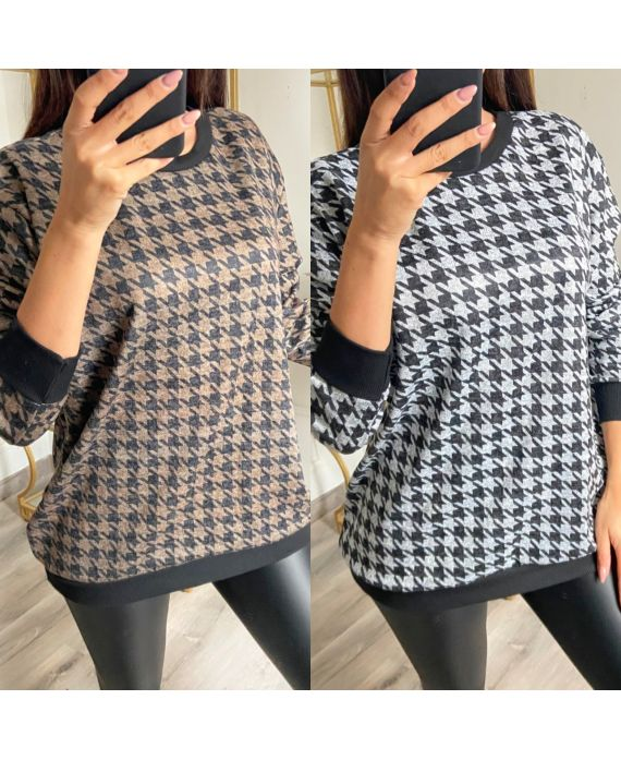 PACK 2 SWEATERS, HOUNDSTOOTH 9818