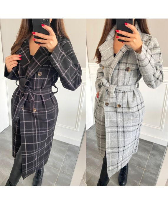 PACK 2 COATS CHECKERED 3362