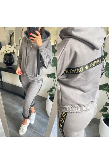 SET JACKET AND PANTS JOGG SUEDE 2859 GREY