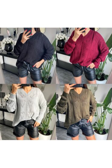 PACK 4 PULLOVERS OVERSIZE AJOURE 2648