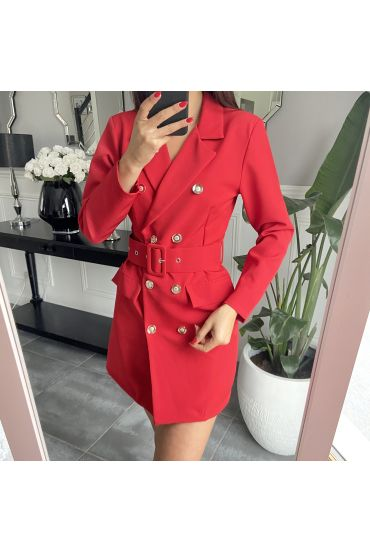 ROBE BLAZER 3849 ROUGE