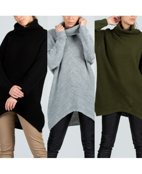 PACK 3 SWEATERS OVERSIZE EFFECT ASYMMETRIC COVER 8084