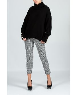 PACK 4 PANTS PLAID S-M-L-XL 3848 BLACK