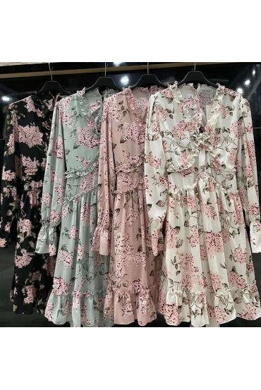PACK 4 FLOWERED DRESSES OPEN BACK 6163