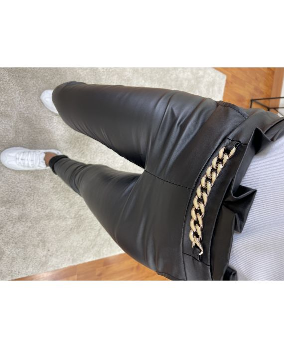 PACK 4 PANTS PU LEATHER CHAIN S-M-L-XL P0701
