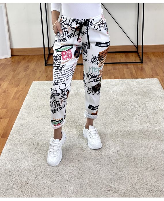 PACK OF 2 PAIRS OF PANTS PRINTS 9302I6
