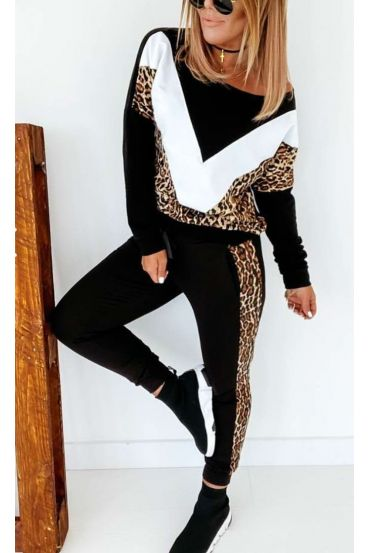 ALL PANTS + SWEATER EFFECT ASYMMETRIC COVER LEOPARD 9927