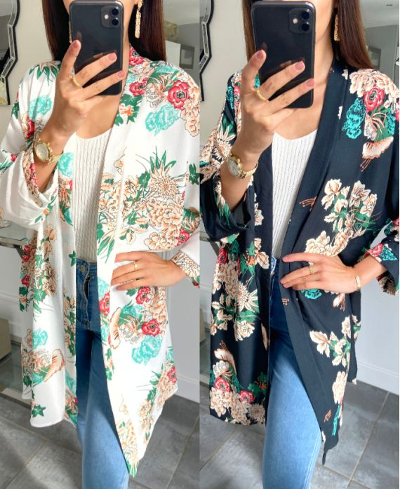 PACK OF 4 KIMONO FLORAL 8698