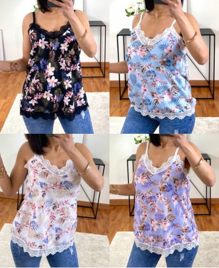 PACK 5 TOPS CAMISOLE FLOWER