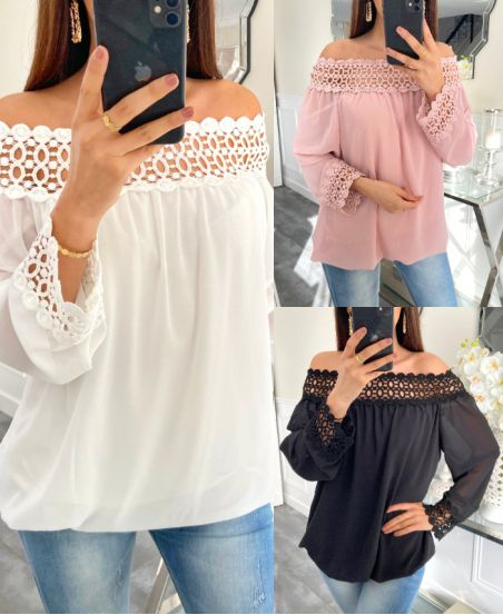 PACK 4 BLOUSES LACE 7606