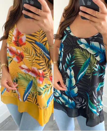 PACK TOP 3 PRINTS TROPICAL 2840