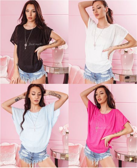 PACK 4 TOPS + COLLIER 7372