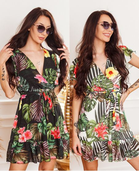 PACK OF 2 DRESSES TROPICAL 9423