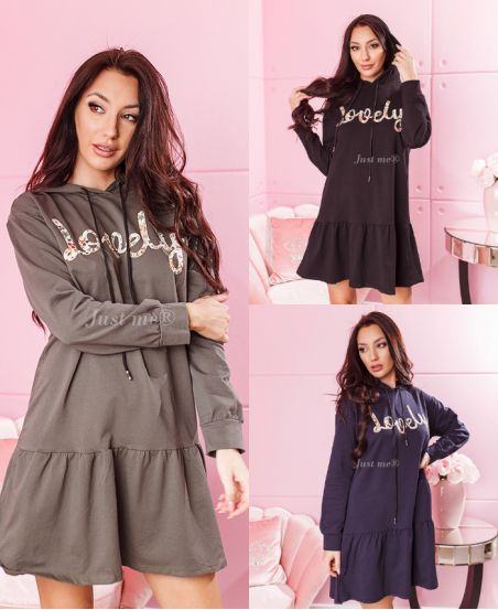 PACK 3 ROBES OVERSIZE SWEAT A CAPUCHE LOVELY 7854