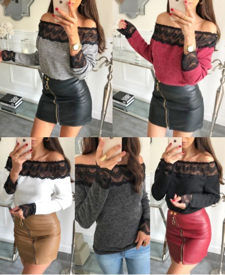 PACK 5 SWEATERS LACE 9123