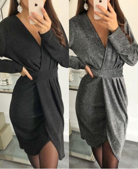 PACK 2 ROBES SOIREE PAILLETEE 9213