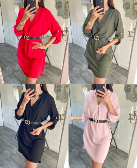 PACK OF 4 GOWNS + BELT 9415