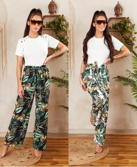 PACK OF 2 PAIRS OF PANTS PALAZZO 7743I2