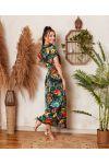 PACK OF 2 DRESSES LONG SLIT FLOWER 7938