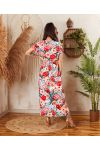PACK OF 2 DRESSES LONG SLIT FLORAL 7938