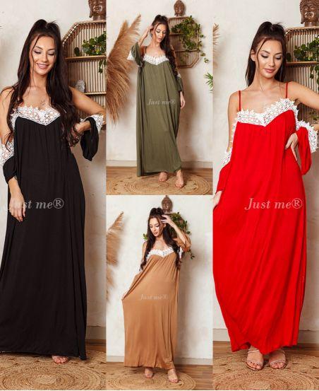 PACK 4 DRESSES LONG LACE 6728