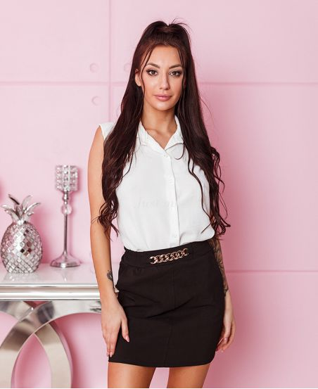 PACK OF 4 BLACK CHAIN SKIRTS S-M-L-XL 6121