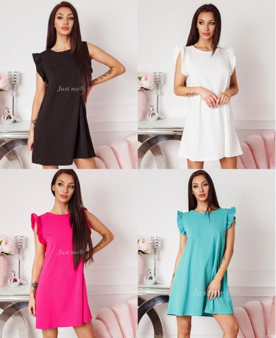 PACK OF 4 FRILLY SLEEVE DRESSES 1154